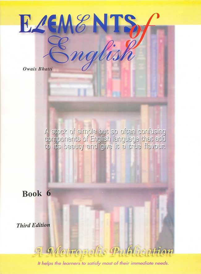 Elements of English Book for class VI