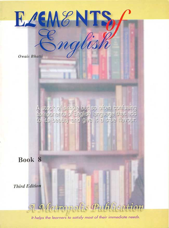 Elements of English Book for class VIII