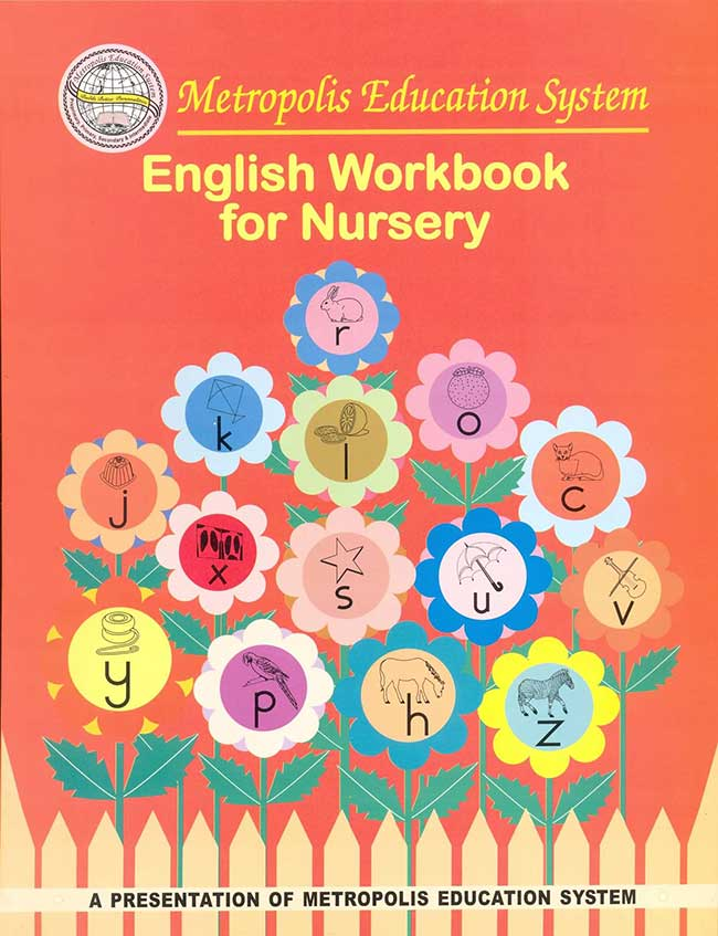 English workbook for Nursery